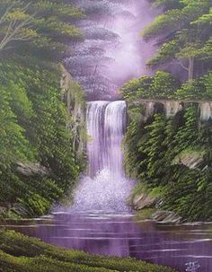 Beginners Oil Painting Classes in East Sussex (Bob Ross Technique) #OilPaintingScenery