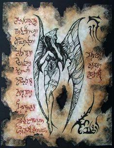 DARK MESSENGER cthulhu larp necronomicon magick occult horror. $10.00, via Etsy.