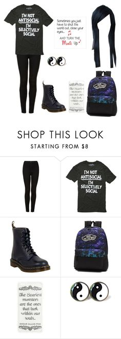 """""""Untitled #225"""" by awakard-jedi-turtle ❤ liked on Polyvore featuring Topshop, Dr. Martens and Vans"""