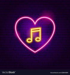 Love music neon sign vector image on VectorStock Iphone Wallpaper Travel, Rapper Wallpaper Iphone, Funny Phone Wallpaper, Neon Wallpaper, Nature Wallpaper, Neon Led, Led Neon Signs, Instagram Frame, Instagram Logo