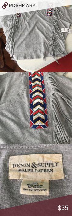 Ralph Lauren tee Flowy vintage inspired tee with beaded detail Ralph Lauren Tops Tees - Short Sleeve