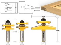 Black Friday 2014 Yonico 12350 3 Bit Raised Panel Cabinet Door Router Bit Set with Bevel Shank from Yonico Cyber Monday Wood Router, Router Woodworking, Woodworking Machinery, Woodworking Videos, Raised Panel Cabinet Doors, Panel Doors, Cabinet Door Router Bits, Bit Set, Organizer