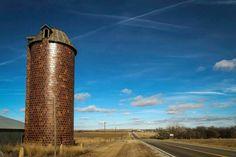 Red tile silo Sylvan Grove, Ks.  Photo by Chris Harris.