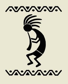 Kokopelli stencil flute western southwestern stencils background pattern template templates craft scrapbook new x It looks like warli from India. Stencil Patterns, Stencil Art, Stencil Templates, Wall Stenciling, Embroidery Patterns, Hand Embroidery, Pineapple Backgrounds, Clipart Noel, Motifs Aztèques