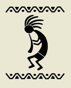 "Kokopelli stencil flute western southwestern stencils background pattern template templates craft scrapbook new 8"" x 10"""