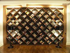 Kelly Wearstler diagonal bookcase.