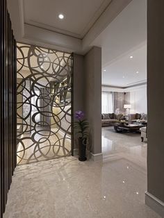 home_decor - The Ultimate Handbook To Innovative Room Dividers 282 Home Interior Accessories, New Interior Design, Interior Decorating, Living Room Partition, Room Partition Designs, Partition Ideas, Cozy Living Rooms, Living Room Decor, Bedroom Decor