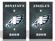 How to Personalize · All covers are coated to ensure better life expectancy. Philadelphia Eagles Football, Nfl Football, All Covers, Light Switch Covers, Home Decor Outlet, Prints, Solar, Room Ideas, Etsy
