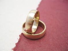 Engagement Brass Band  two forged brass wedding by daganigioielli, $44.00