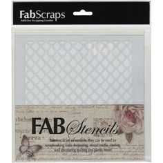 Fabscraps Plastic Stencil 8inX8in-Diamond #1