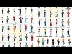 Learn Jobs and Occupations Vocabulary through Pictures - ESLBuzz Learning English Vocabulary List, English Vocabulary, English Adjectives, English Exercises, Improve Your English, List Of Jobs, Learning English, Ielts, Nature Photography