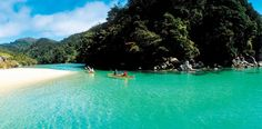 Kayaking in Abel Tasman, New Zealand was a wonderful experience.  I remember that our guide cooked us up some mussels that we pulled off the rocks earlier that evening.