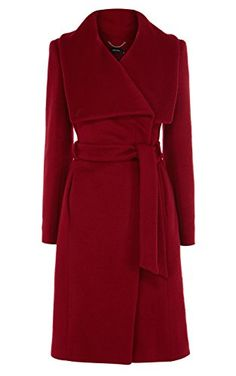 Great dramatic coat from Karen Millen in your pop color :)  Might be a good long coat backup in case the J. Crew one doesn't work.