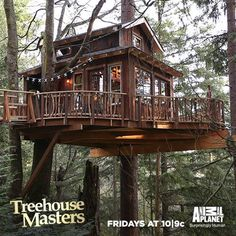 Another fantastic treehouse from Animal Planet's Treehouse Masters (no Pin function), but if you google Treeshouse Masters Treasure Hunt, this is the treehouse. Awesome!