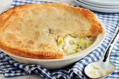 Feed your family this hearty chicken pie. #pie #recipe #chicken