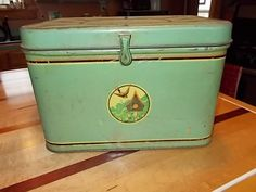 Wonderful Green Vintage Kitchen Bread Box with by phylsugarbear
