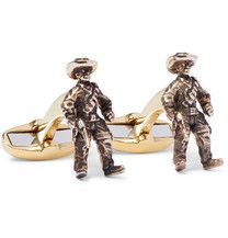 Whether you enjoy smart dressing or sport a suit with r eluctance, <a href='http://www.mrporter.com/mens/Designers/Paul_Smith'>Paul Smith</a>'s brass cufflinks will lighten the mood. Sculpted into the shape of primates, they are burnished for a cool vintage effect and finished with designer-embossed T-bar fastenings.