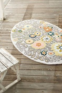 From-The-Grey Rug Anthropologie Rug, Textiles, Floral Rug, Grey Rugs, Graphic, Home And Living, Color Inspiration, Floor Rugs, Decoration