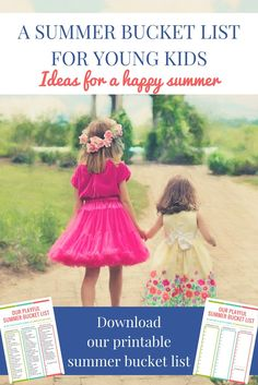 Summer bucket list for kids: Having a summer bucket list for young kids is a great way to enjoy the most of the summer months and create a lot of lovely family moments! | Family summer bucket list for toddlers and preschoolers
