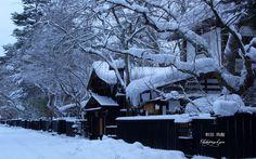 角館武家屋敷の雪の華 壁紙