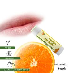 Organic Orange Lip Balm with Sweet Almond Oil and Cocoa Butter: Super nourishment for lips