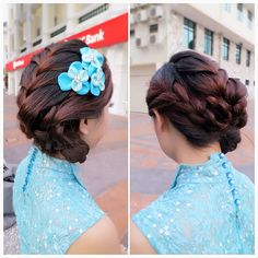 Prewedding braided updo, bride: Jessamin  #braided #updo