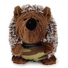 FORE Dog Squeak Plush Toy Chew Toy for Dog Hedgehog Doll Color Brown  Camo >>> You can get more details by clicking on the image. (Note:Amazon affiliate link)