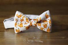 Pikachu Bow tie  Bowtie Poke Ball Pokemon by FavoriteAccessories
