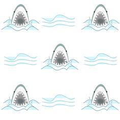 MeinLilaPark – DIY printables and downloads: Free digital shark scrapbooking paper - ausdruckbares Geschenkpapier - freebie