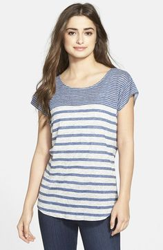 Tommy Bahama 'Chopala' Stripe Linen Jersey Tee available at #Nordstrom
