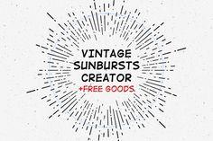 FREE this week - July 13, 2015 - Vintage Sunburst Creator by Pavel Korzhenko on Creative Market