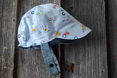 Your place to buy and sell all things handmade Cute Caps, Baby Eyes, Warm Winter Hats, Fabric Combinations, News Boy Hat, Sun Hats, Fabric Design, Cotton Fabric, Tractor