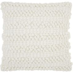 Shop for Mina Victory Lifestyle Woven Stripes White Throw Pillow by Nourison (20 x 20-inch). Free Shipping on orders over $45 at Overstock.com - Your Online Home Decor Outlet Store! Get 5% in rewards with Club O!