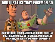 Pokémon Go: The ultimate distractor.