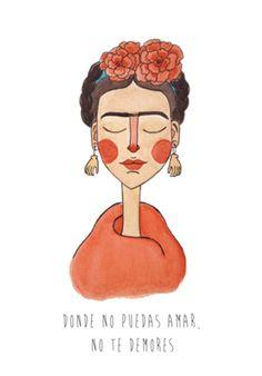 Compre Frida Flôr de @helloluizaillustrations em posters de alta qualidade. Incentive artistas independentes, encontre produtos exclusivos.