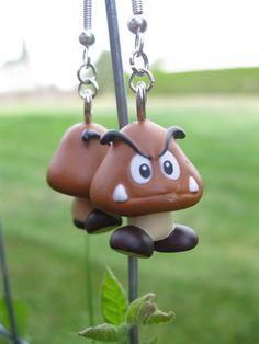 Super Mario Earrings - Goomba