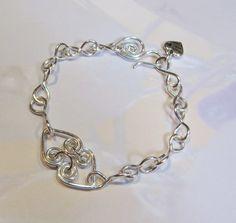 Silver plate wirework bracelet.