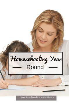 Why we homeschool all year! Find out all of the amazing benefits to homeschool all year round.