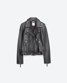 Image 8 of BASIC LEATHER JACKET from Zara #essentialpiece
