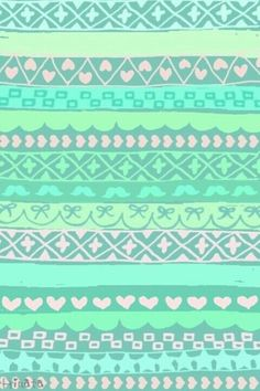 turquoise and baby pink cutie aztec print !!