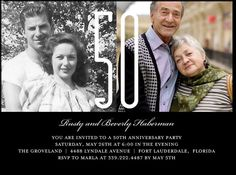 Grandparents 50th Anniversary Party Invite Make Birthday Invitations Surprise Wedding