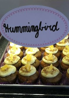 Hummingbird Cupcakes from Carytown Cupcakes in Richmond, VA.  Yummy!
