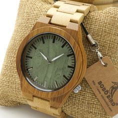 BOBO BIRD 2016 New Arrival Men's Bamboo Wood Wristwatch Ghost Eyes Genuine Leather Strap Glow Analog Watches with Gift Box WOW #shop #beauty #Woman's fashion #Products #Watch