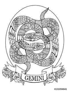 virgo zodiac sign coloring page for adults fotolia 130188224