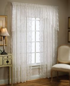"Saturday Knight Sheer Petite Fleur 56"" x 20"" Ascot Valance"