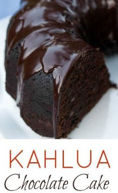 Kahlua Chocolate Cake delivers rich chocolate flavor with warm Kahlua undertones. Two recipes included — a scratch recipe and a doctored box recipe. Kahlua Chocolate Cake, Kahlua Cake, Chocolate Desserts, Kahlua Cupcakes, Chocolate Biscuit Cake, Chocolate Cake With Coffee, Chocolate Flavors, Coffee Cake, Bunt Cakes