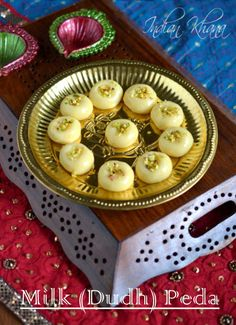Milk Peda, dudh peda, paal peda is easy diwali sweet recipe made in jiffy with easy ingredients perfect for any festival or celebration. Indian Desserts, Indian Sweets, Sweet Desserts, Indian Food Recipes, Indian Dishes, Sweets Recipes, Snack Recipes, Diwali Recipes, Chocolates