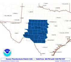 407PM: A Severe Thunderstorm Watch has been issued for the Concho Valley, Hill Country, and Southwest Texas until 11 PM tonight. This includes Sanderson, Del Rio, Hondo, Junction, San Angelo, Abilene, and Brownwood. Isolated storms are expected to develop over the next few hours. A moderately unstable airmass and marginal wind shear values will support a semi-mixed convective mode. A few of the stronger storms may become supercellular for a few hours through the early evening