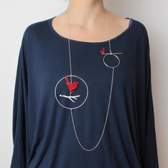bird necklace / bottica