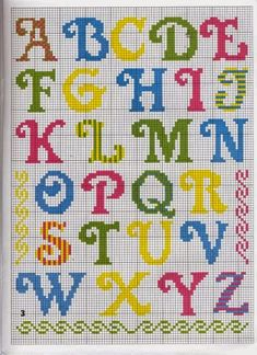 Pin on Cross stitch Crochet Alphabet, Cross Stitch Alphabet Patterns, Cross Stitch Letters, Cross Stitch Borders, Cross Stitch Baby, Cross Stitch Designs, Cross Stitching, Cross Stitch Embroidery, Stitch Patterns
